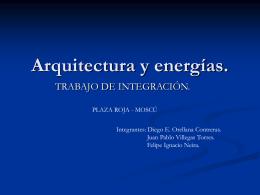 Arquitectura y energías.