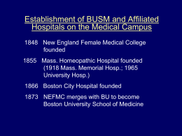 Slides - Boston University Medical Campus