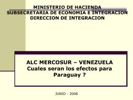 Venezuela Cuales seran los efectos para Paraguay?