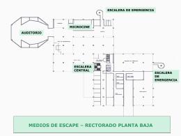 Ver plano con salidas de emergencia para el Edificio Rectorado