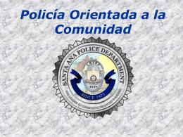 Policía Orientada a la Comunidad