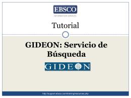 Tutorial: GIDEON Servicio de Busqueda