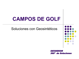 Golf con Geosinteticos