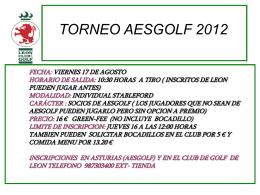 TORNEO SOCIAL DE GOLF