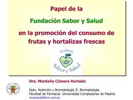 Descargar ponencia de la fundación `Sabor y Salud`