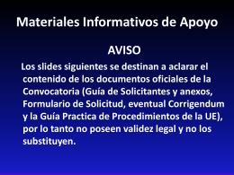 Programa Tematico: Actores No Estatales y Autoridades