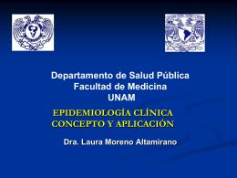EPIDEMIOLOGÍA CLÍNICA - Facultad de Medicina