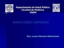 Moreno Altamirano L .Ensayo Clínico Controlado. Presentación en