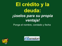 Tarjetas de crédito Ventajas