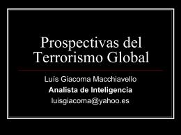 Prospectivas del Terrorismo Global