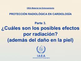 Cuáles son los posibles efectos por radiación?