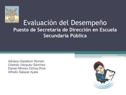 Evaluación del Desempeño Puesto de Secretaria