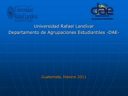 Presentación DAE - Universidad Rafael Landívar