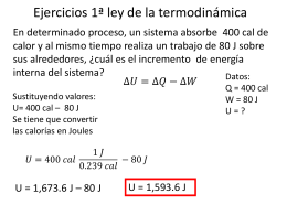 Fisica 8 ejercicos 1a. ley termo