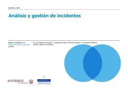 Análisis y gestión de incidentes - Gobierno del principado de Asturias