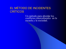 EL MÉTODO DE INCIDENTES CRÍTICOS