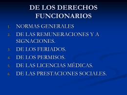 DERECHOS FUNCIONARIOS