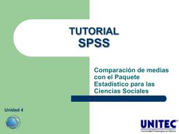 TUTORIAL SPSS Comparación de medias con el Paquete