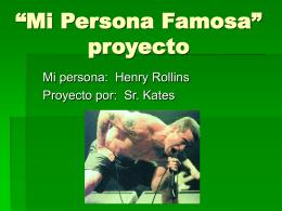 """Mi Persona Famosa"" proyecto"