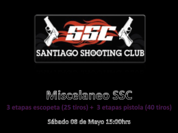 Diseño etapas - Santiago Shooting Club