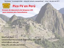 Pico PV in Peru