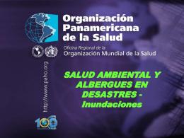 Salud ambiental y albergues en desastres