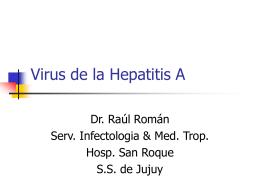 Virus de la Hepatitis A - Ministerio de Salud Jujuy
