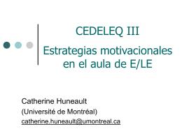 Las motivaciones y representaciones en el aprendizaje de E/LE en