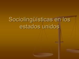 Sociolingüísticas en los estados unidos
