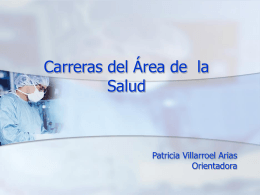 Carreras del Área de la Salud - Liceo Max Salas Marchán de Los