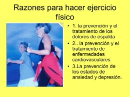 Razones para hacer ejercicio físico