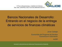 Bancos nacionales de desarrollo: Entrando en el negocio de la