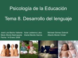 Teorías sobre el desarrollo del lenguaje.