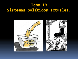 Tema 19 Sistemas políticos actuales.