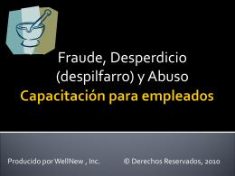 Fraude y Abuso Capacitacion para empleados