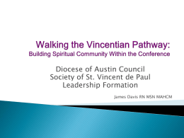 SVDP Diocese of Austin Council- Building Spirituality Within with