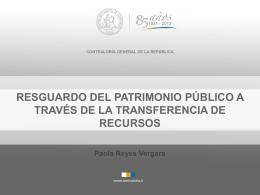 Paola Reyes, abogada Comité 3 - Contraloría General de la