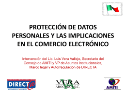 PROTECCIÓN DE DATOS PERSONALES Y LAS IMPLICACIONES
