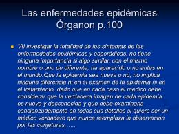 Las enfermedades epidémicas Organon p.100