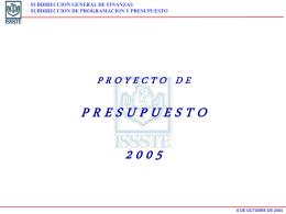 Proyecto de Presupuesto 2005: ISSSTE