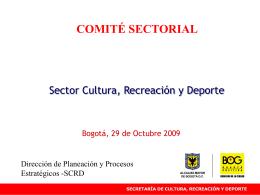 Presentación Comité Sectorial 29 Octubre 2009