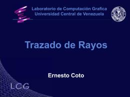 Trazado de Rayos - Centro de Computación Gráfica
