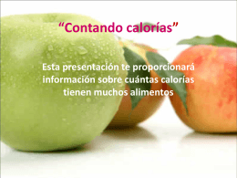 """""""Contando calorías"""""""