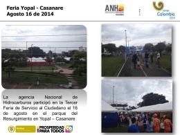 Feria Yopal - Agencia Nacional de Hidrocarburos