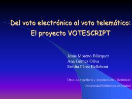 Del voto electrónico al voto telemático