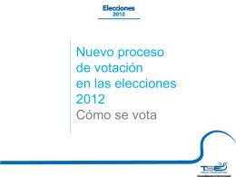 Como votar en elecciones 2012