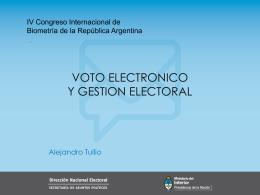 Voto electrónico y gestión electoral