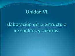 ELABORACIÒN DE LA ESTRUCTURA DE SUELDOS Y SALARIOS