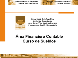 sueldos - Instituto de Capacitación y Formación