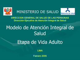 MAIS Adulto - Ministerio de Salud